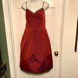 Maroon David Meister cocktail dress